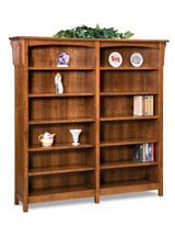 Bridger Mission double bookcase shown in 1/4 Sawn White Oak/Michaels
