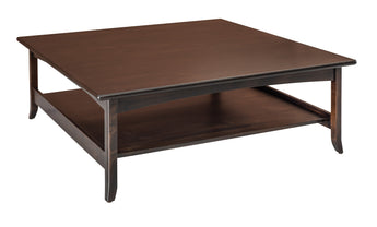 Lakeshore square coffee table shown in Brown Maple/Kona
