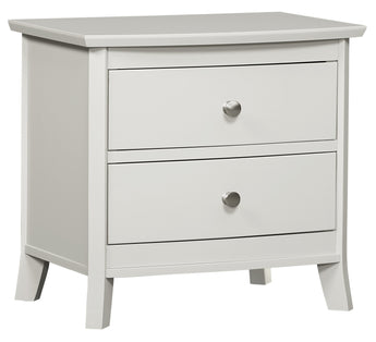 Laurel 2 drawer nightstand shown in Brown Maple/White