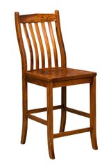 "Lincoln 24"" barchair shown in 1/4 Sawn White Oak/Michaels"
