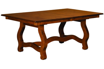 Carolina Trestle table shown in Brown Maple/Golden Brown