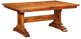 Manchester Trestle table shown in Rustic Cherry/Michaels