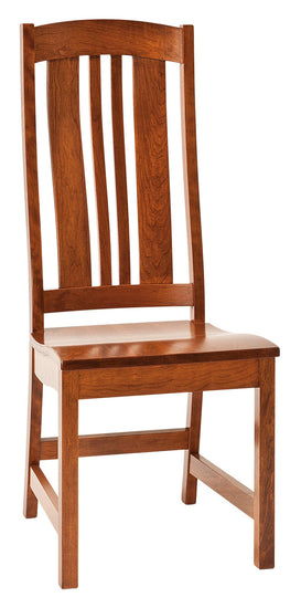 Carolina side chair shown in Cherry/Malaguania