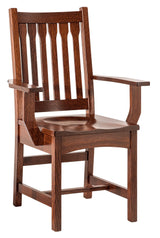Buchanan arm chair shown in 1/4 Sawn White Oak/Michaels