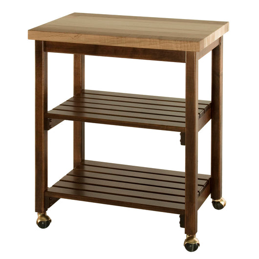 Serving Cart with Butcher Block top