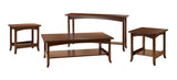 Lakeshore coffee table, end table, sofa table shown in 1/4 Sawn White Oak/Kona
