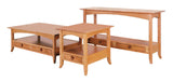 Shaker Hill coffee table, end table, sofa table shown in Cherry/Natural