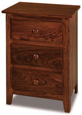 Shaker 3 drawer nightstand shown in Elm/Tavern