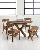 Vadsco dining set shown in Walnut with a natural stain
