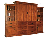 Murphy bed shown closed in Oak with Copper finish