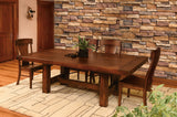 Wellington Trestle Table shown with Lacomb Chairs