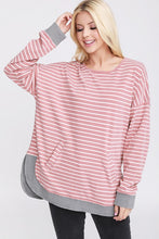 Rose sweatshirt with kangaroo pockets