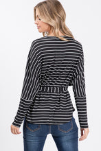 Stripe top with detachable waist strap