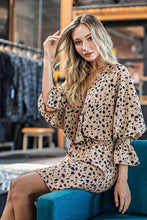 Boho coco animal print wrapdress