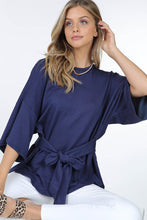 Slubby Terry wrap top