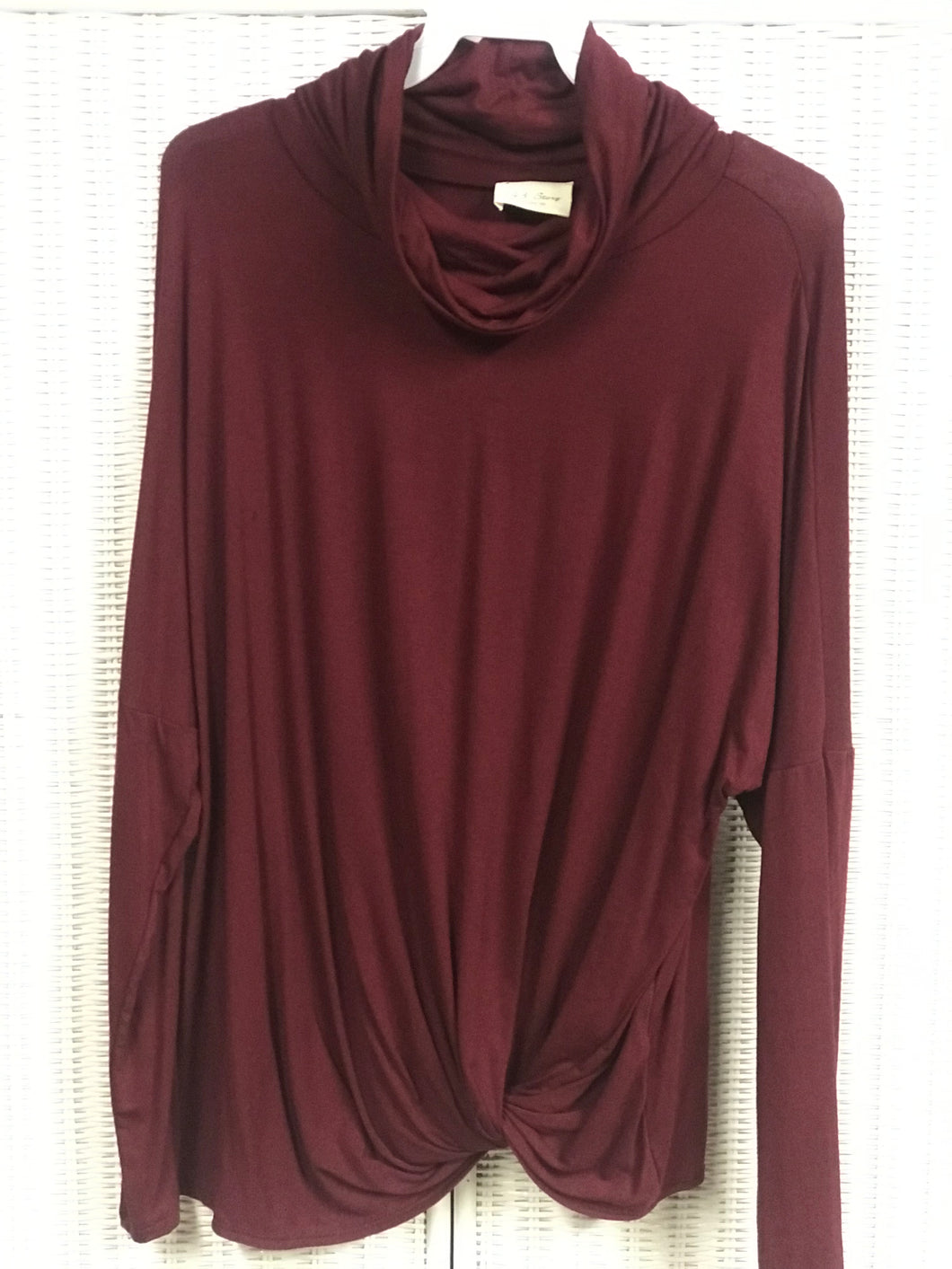 Burgundy Turtle Neck with side knot