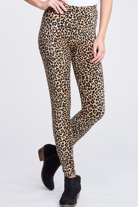 High waisted leopard print leggings