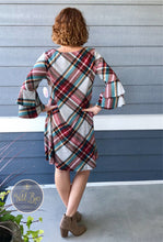 Oatmeal heather plaid dress