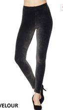 Brushed Velour Ankle Leggings