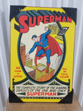 Superman DC Comics Complete Story & Exploits Wood Wall Art Plaque Silver Buffalo