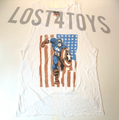 Junk Food Women's Cut Up style Captain America Tank Top