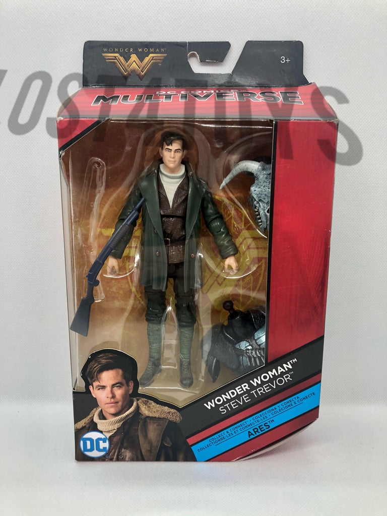 Mattel DC Multiverse Wonder Woman Steve Trevor Action Figure w/ Ares BAF