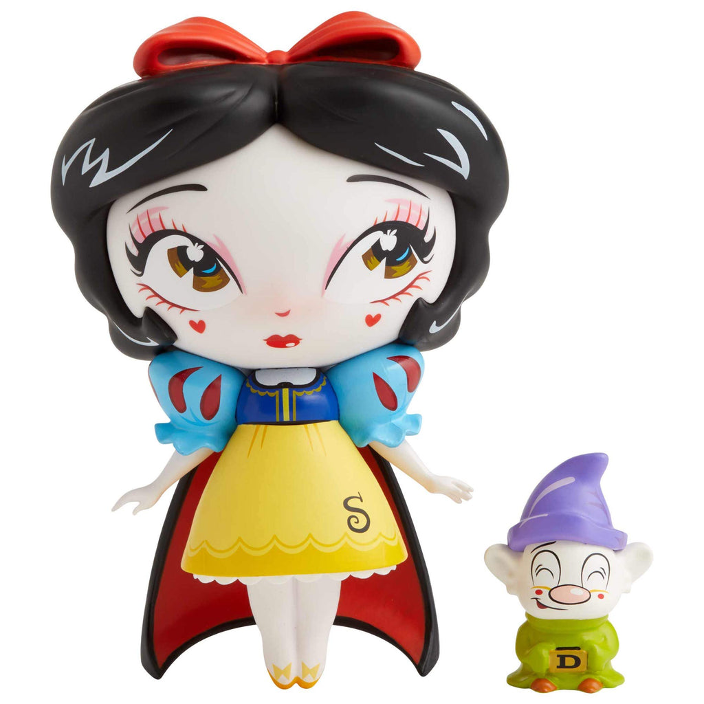 Enesco Disney World of Miss Mindy Snow White with Mini Dopey Dwarf Vinyl Figure