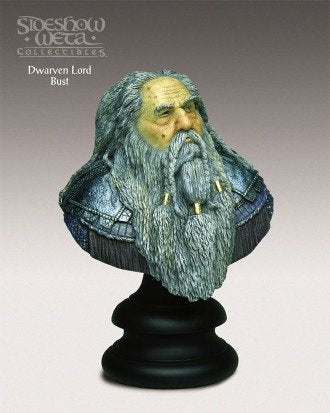 DWARVEN LORD The Lord of the Rings: The Fellowship of the Ring 1/4 Scale 2001 Polystone Bust
