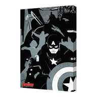 Avengers Black And White Marvel Comics Superheroes Comic Book Characters Stretched Canvas 24x36