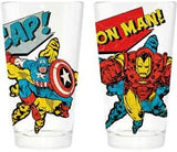 Avengers! Captain America & Iron man Marvel 16 oz pint glass set