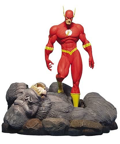 The Flash Vs. Gorilla Grood Statue Full Size Dc Direct