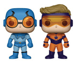 Funko Pop! DC Heroes: Booster Gold and Blue Beetle 2-Pack Previews Exclusive Vinyl Figure