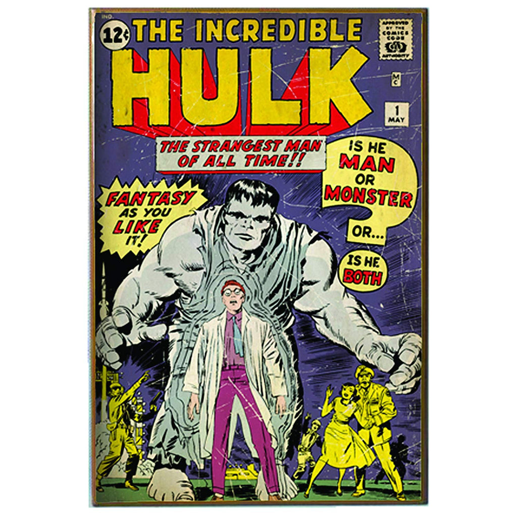 Hulk Marvel Comics Silver Buffalo Wall Art 13 x 19 inches
