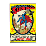 "DC Comics Silver Buffalo Superman Complete Story & Exploits Wood Wall Art Plaque, 13"" x 19"""