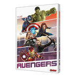 Avengers Team Up Stretched Canvas 24x36