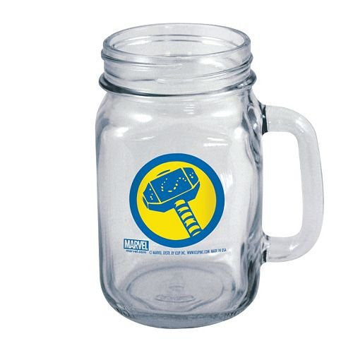 Officially Licensed Marvel Avengers THOR Mason Jar