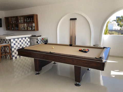 pool table in lobby at Mar del Cabo