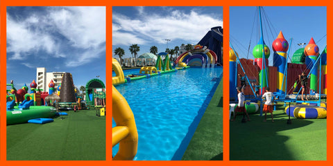 multiple amenities and rides at Aqua-World Cabo waterpark