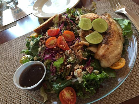 fresh salad at Cynthias organic restaurant in San Jose del Cabo