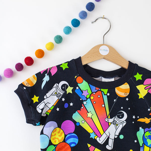Party planets spaceman t-shirt