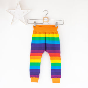 Rainbow stripe baby / children's harem trousers