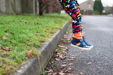 Rainbow arrow trousers