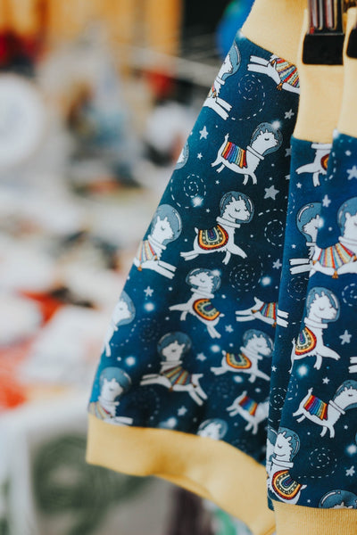 Space llamas babies / children's dungarees