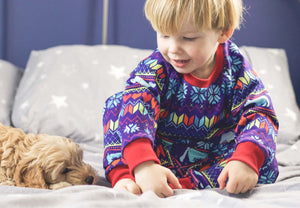 Exclusive polar bear fair isle baby / children's pyjamas