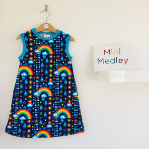 Rainbowphant A-Line dress with 3 sleeve options