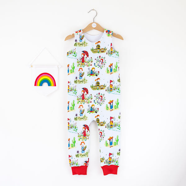 Play outside babies / children's dungarees