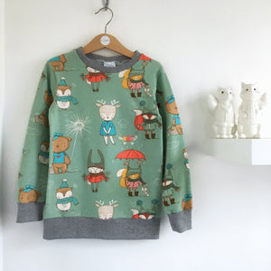 Winter animal baby / children's long sleeve t-shirt
