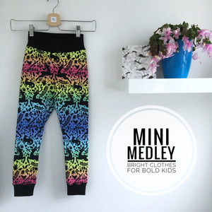 Mini Medley winter rainbow print baby /children's leggings