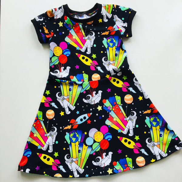 Party planet skater dress