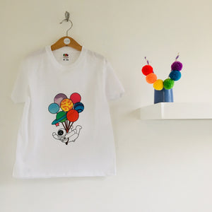 Party planet Mini Medley print children's t-shirt